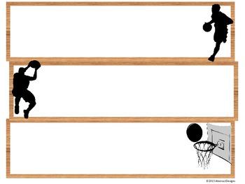 Basketball Border and Name Plates
