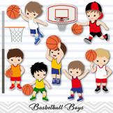 Basketball Boys Clipart, Basketball Boy Digital Clip Art, Sport Clipart, 0259
