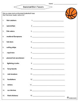 Basketball Brain Teasers