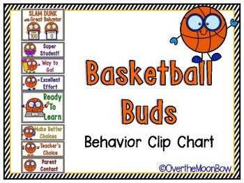 Basketball Buds Behavior Clip Chart