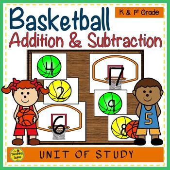 Basketball Build 2 Addend 0-20 Addition & Subtraction Number Sentence