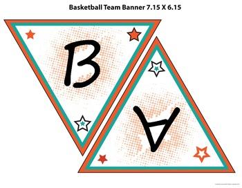 Basketball Theme Bulletin Border, Banner, Name Tags, and Editable Poster