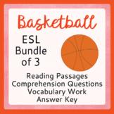Basketball BUNDLE for ESL, ELL