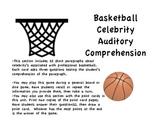 Basketball Celebrity Auditory Comprehension & Memory