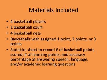 Basketball Challenge Speech, Language, and Academic Skills