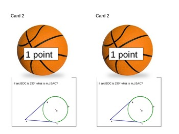 Basketball Circles Review - Central/Inscribed Angles, Secants/Tangents/Chords