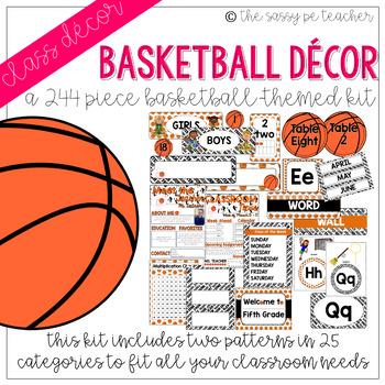 Basketball Classroom Decor Pack