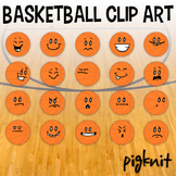 Basketball Clip Art, Smiley Faces, March Madness, School Sports Downloads, Happy