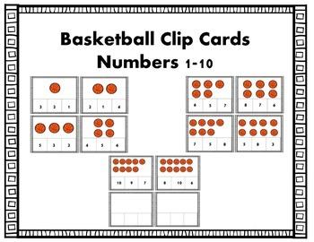 Basketball Clip Cards