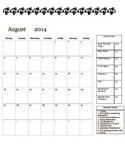 Basketball Clip Chart Conduct Calendar 2014