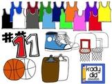 Basketball Clipart {Kady Did Doodles}