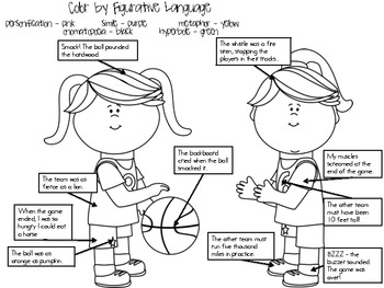 Basketball Color by Figurative Language