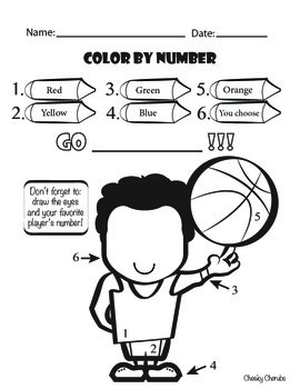 Basketball - Color by Number