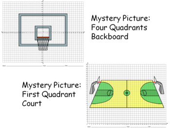 Basketball Themed Math Problems, Geometry Problems, Coordinate Drawings