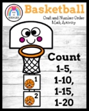 Basketball Craft Activity: Counting Math Center for March,