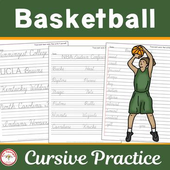 Basketball Cursive Practice