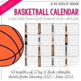 Basketball Desk Calendar