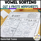 Basketball  Differentiated Madness: Print & Go Vowel Sorts