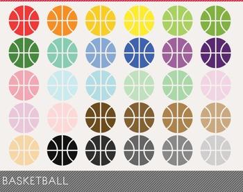 Basketball Digital Clipart, Basketball Graphics, Basketball PNG