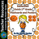 Basketball Dolch Sight Word Flash Cards and Posters 1st Grd High Frequency Words