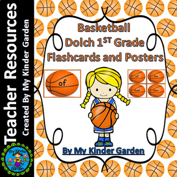 Basketball Dolch First Grade Sight Word Flashcards and Posters