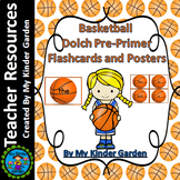 Basketball Dolch Sight Word Flash Cards Posters Pre-Primer High Frequency Words