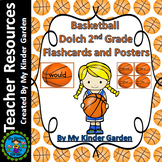 Basketball Dolch Sight Word Flash Cards and Posters 2nd Grd High Frequency Words