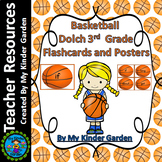 Basketball Dolch Sight Word Flash Cards and Posters 3rd Grd High Frequency Words