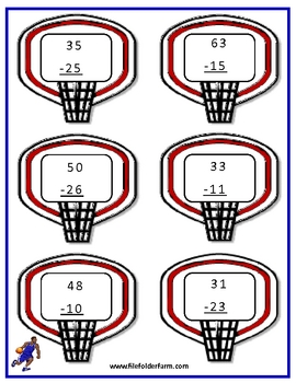 Basketball Double Digit Subtraction