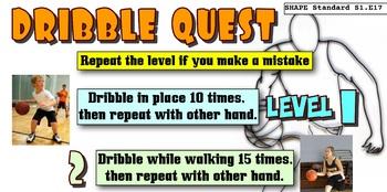 Basketball Dribble Quest Skill Progression - 6 Levels!