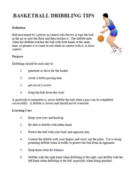 Basketball Dribbling Tips and Activities