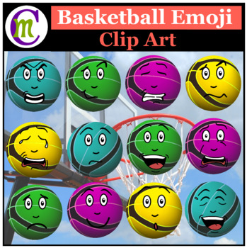 Basketball Emojis Clipart 2 | Sports Ball Emotions Clip Art