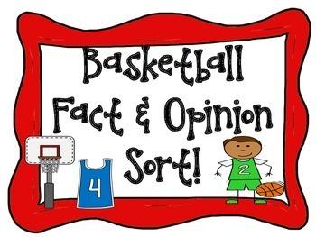 Basketball Fact and Opinion Sort