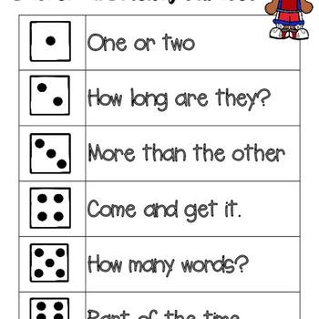 Basketball Fluency Phrase Roll & Read (All 6 Levels!)