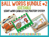 Ball Words Sight Word Mastery System Bundle #2-Editable