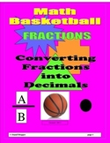 Basketball Fractions to Decimals Conversions