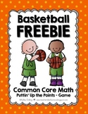 Basketball Freebie {Common Core Math Game - EDITABLE}