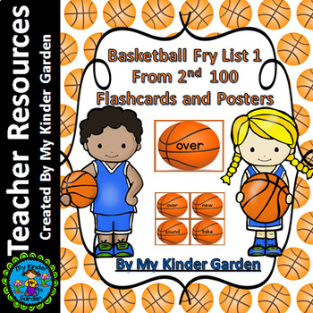 Basketball Fry List 1 From 2nd 100  Sight Word Flashcards
