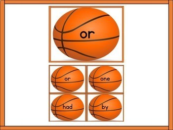 Basketball Fry List 2 in 1st 100 High Frequency Sight Word Flashcards & Posters