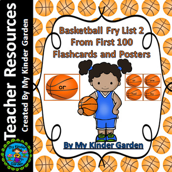 Basketball Fry List 2 From 1st 100  Sight Word Flashcards