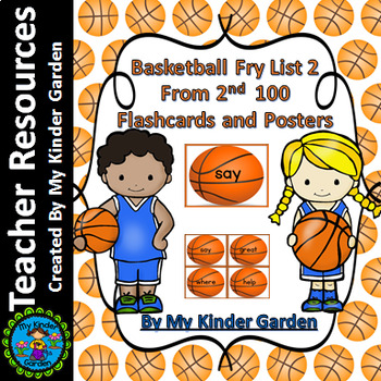 Basketball Fry List 2 From 2nd 100  Sight Word Flashcards