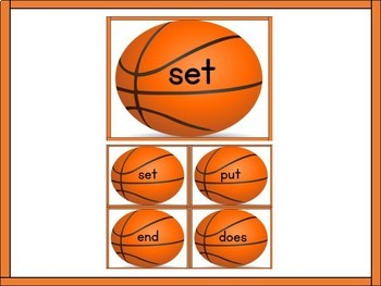 Basketball Fry List 3 in 2nd 100 High Frequency Sight Word Flashcards & Posters