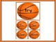 Basketball Fry List 4 in 2nd 100 High Frequency Sight Word Flashcards & Posters
