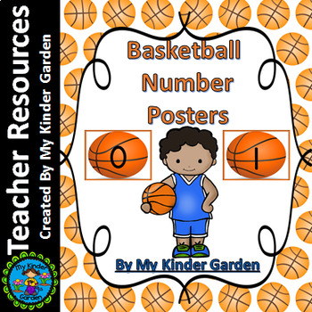 Basketball Full Page Number Posters 0-100
