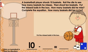 Basketball Fun!  SmartBoard Activities for Math (Notebook 11)