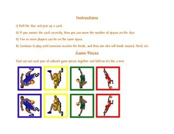 Basketball Game Board Template