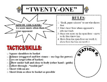Basketball Games - Station Cards