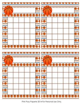 Basketball Incentive Reward Charts