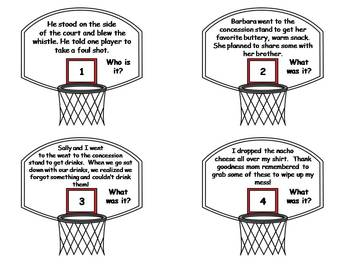Making Inferences Game: Basketball Theme
