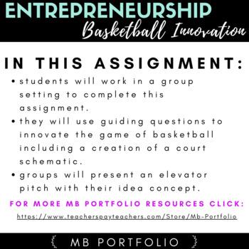 BUSINESS - Entrepreneurship Basketball Innovation Assignment
